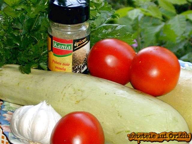 ingrediente pentru salata de dovlecei
