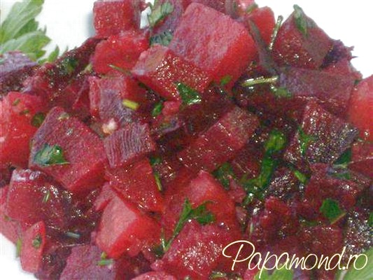 salata marocana de sfecla rosie