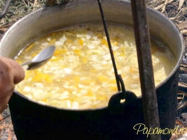 Ceapa si radacinoasele maruntite pentru bors pescaresc