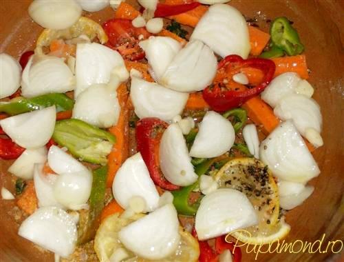 Platica la cuptor - pat de legume pentru platica
