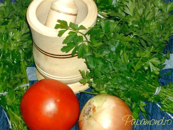 Salata de patrunjel -Patrunjel, ceapa, rosie...