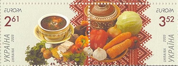 Timbre - bors traditional ucrainean de sfecla rosie