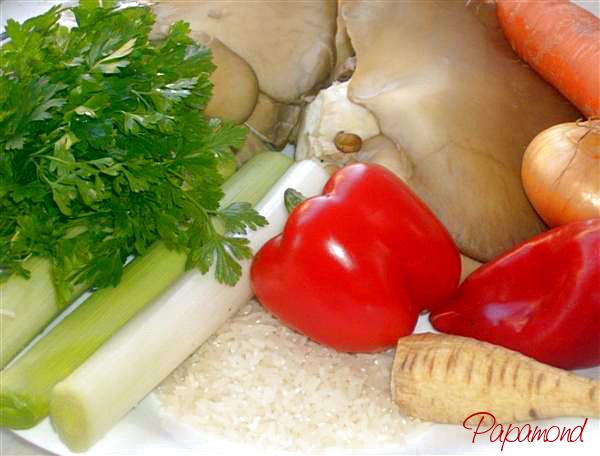 Ingrediente pentru ciorba de bureti