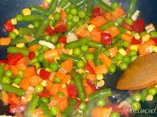 Piept de rata - legume mexicane