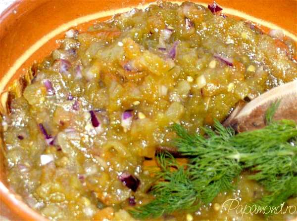 Salată de gogonele coapte