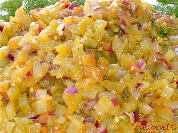 Salată de gogonele prăjite