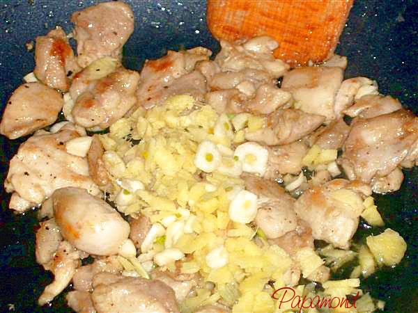 Pepite de pui in wok