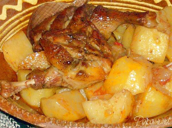 Rata pe cartofi dulci, la tava rumenită