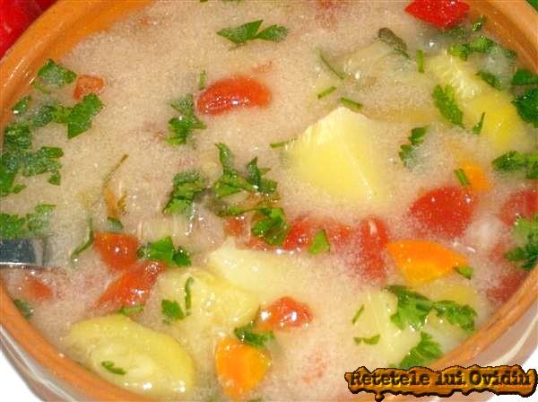ciorba taraneasca de legume dreasa cu lapte acru