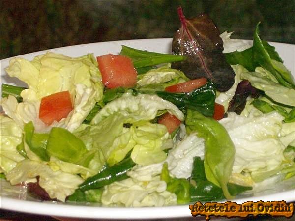 salata de verzituri pentru piure cu sos