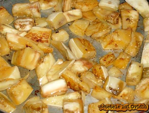 vinete prăjite pentru chiftele si legume