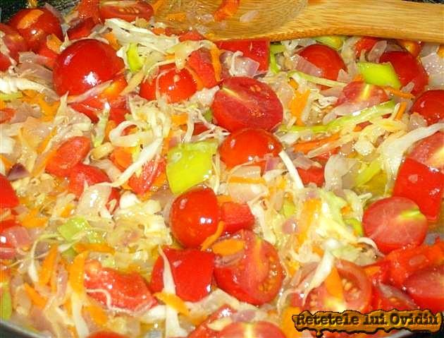 Calim usor legumele inainte de a umple vinetele - imam bayildi