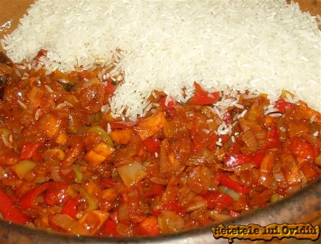 reteta de pilaf de orez cu pui