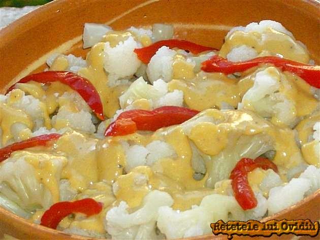 salata de conopida cu sos de mustar