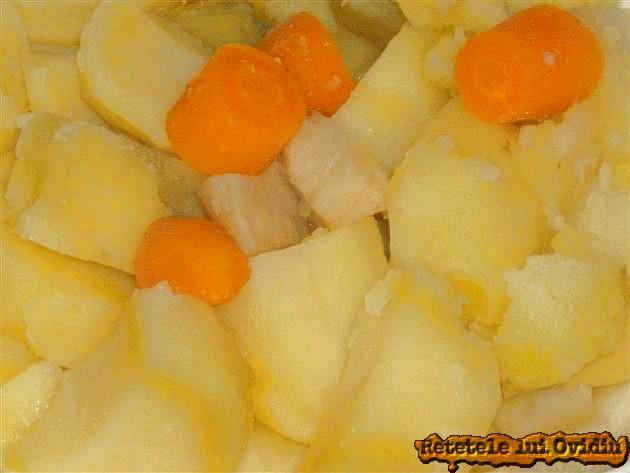 piure de legume cu pulpe de rata