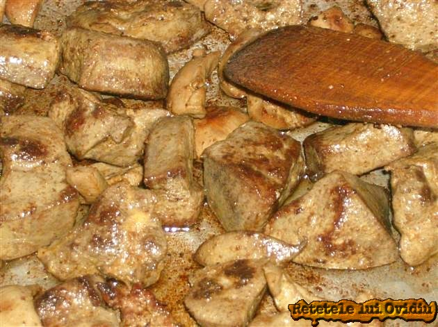 organe de porc prajite