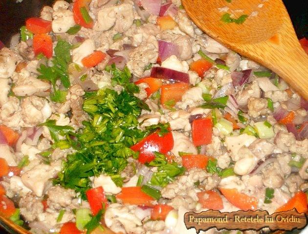 clatite cu carne la cuptor 3