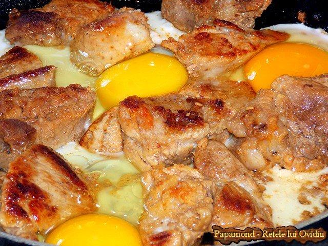 orez cu spanac si carne prajita cu oua incaierate 3