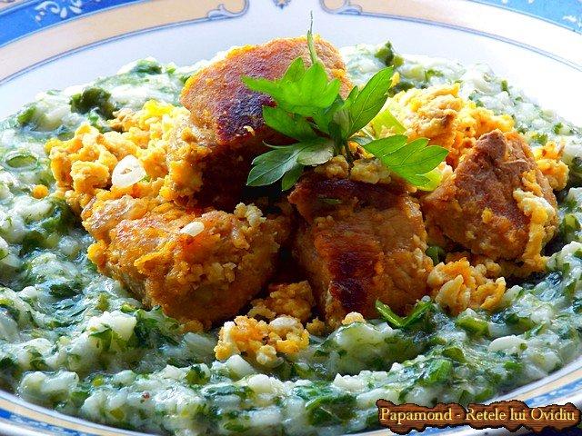 orez cu spanac si carne prajita cu oua incaierate 8