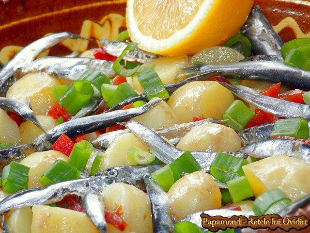 salata de cartofi noi cu hamsii (7)