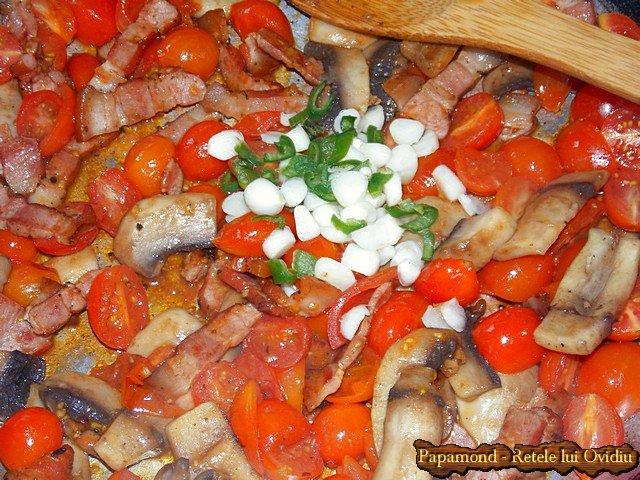 Paste cu bacon si ciuperci 8