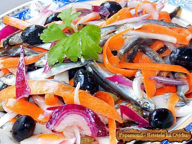 Salata de hamsii. Chilca cu ceapa - www.papamond (4)