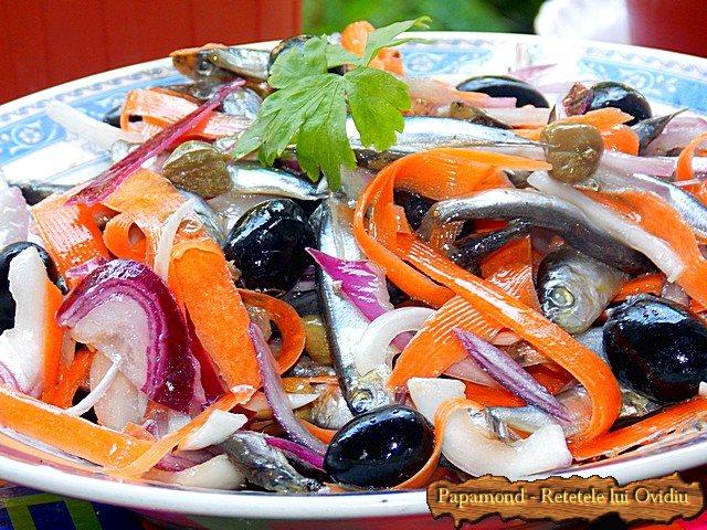 Salata de hamsii. Chilca cu ceapa - www.papamond (5)