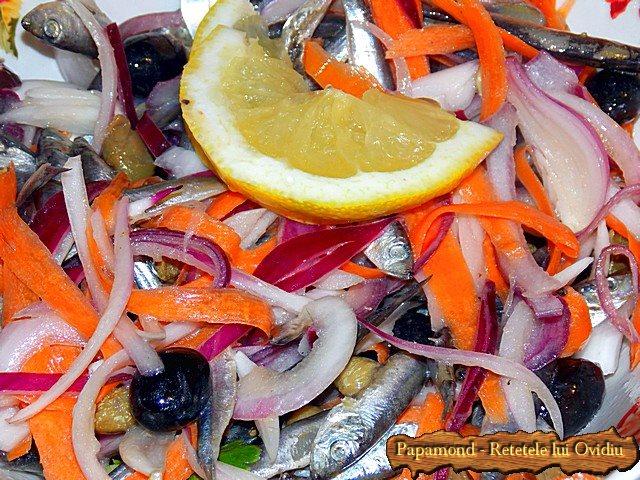 Salata de hamsii. Chilca cu ceapa - www.papamond (7)