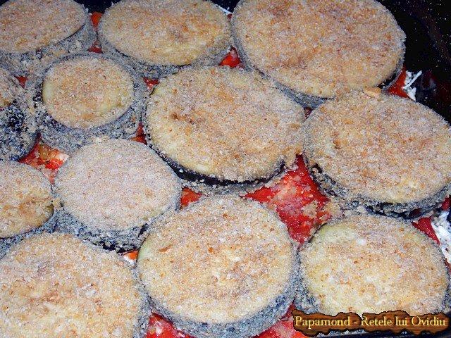 Vinete la cuptor. Tavalite prin pesmet, cu branza si sos taranesc de rosii - www.papamond.ro (8)