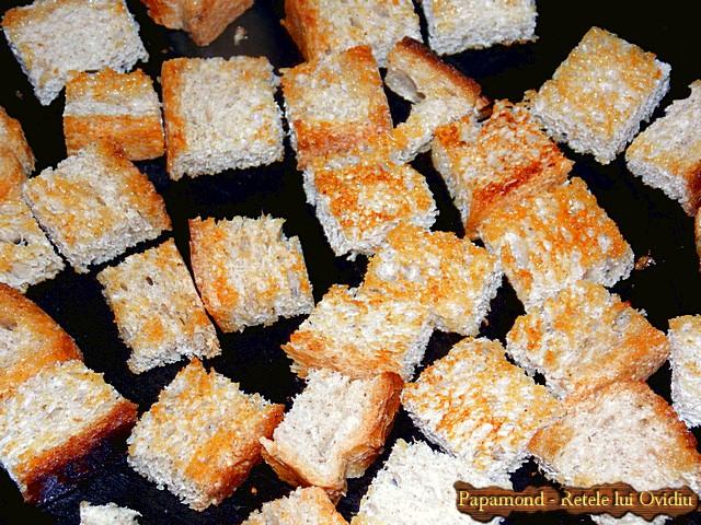 Tocanita din piept de pui cu praz. Servita cu crutoane - www.papamond.ro  (7)
