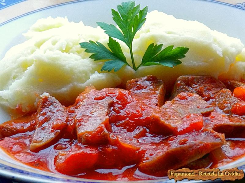 Limba de porc cu sos tomat - Papamond 9