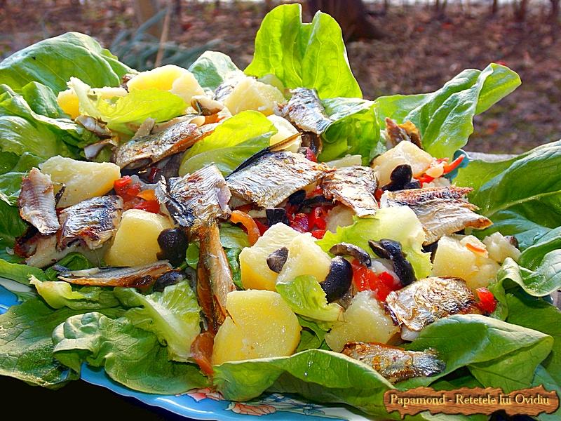 Salata cu Peste Preparat la Gratar