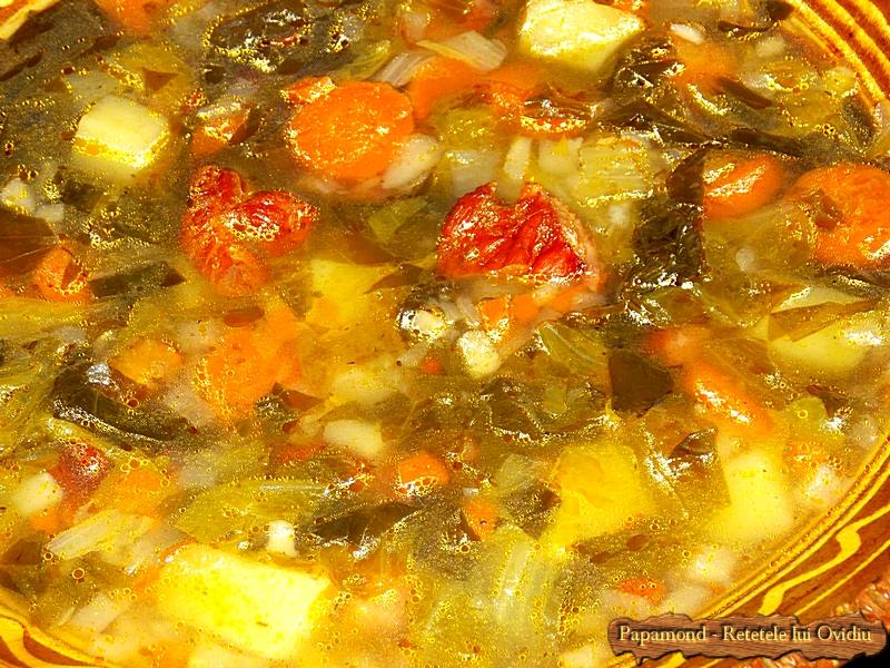 Ciorba de salata cu afumatura - Papamond  11