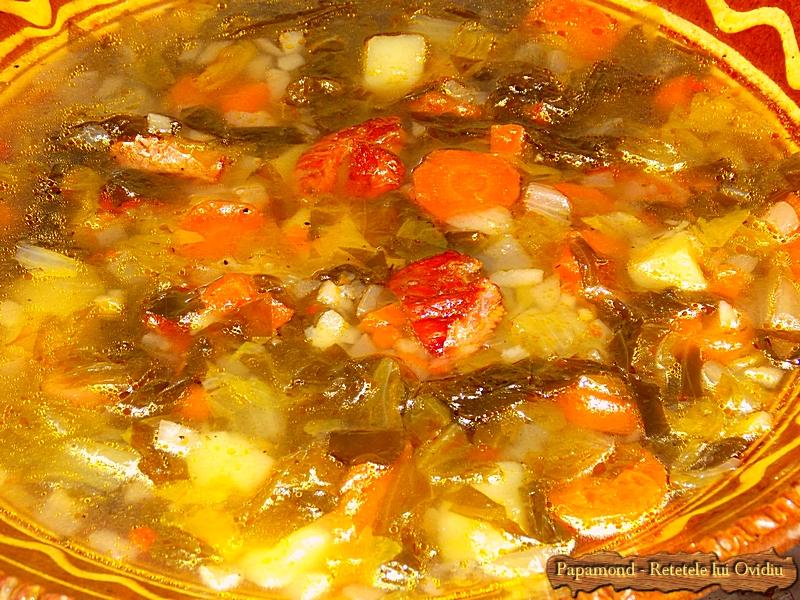 Ciorba de salata cu afumatura - Papamond  13