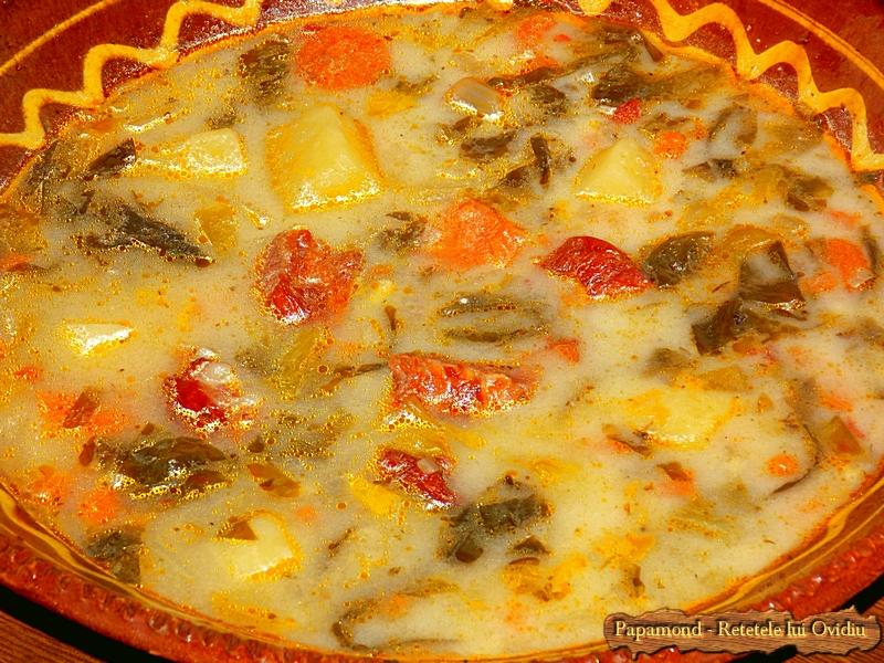 Ciorba de salata cu afumatura - Papamond  16