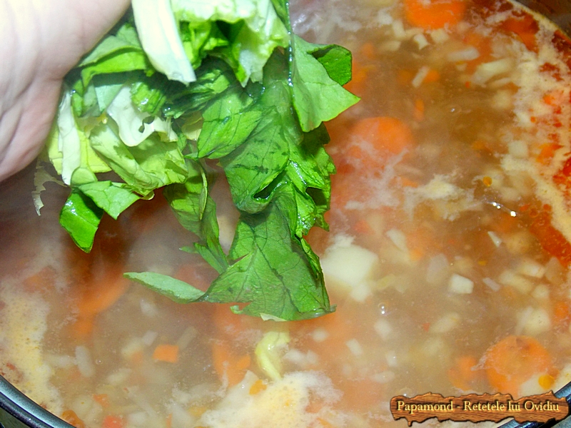 Ciorba de salata cu afumatura - Papamond  6