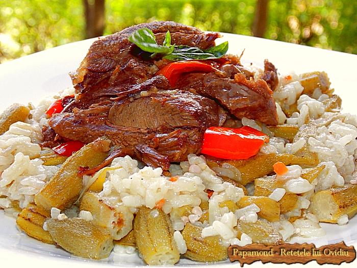 Bame cu orez si carne de curcan