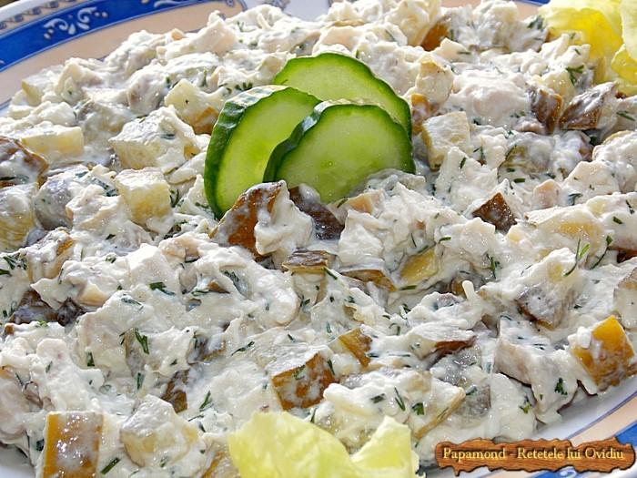 Salata de pui cu ciuperci 9