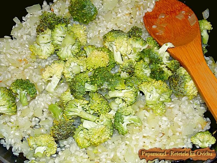 Garnitura de orez cu broccoli