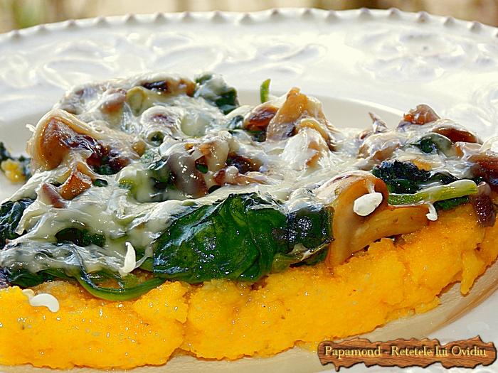 tarta cu spanac si ciuperci