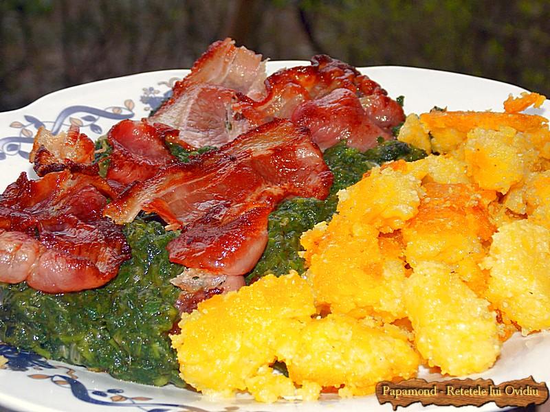 Urzici cu mamaliga rumenita si bacon crocant (5)
