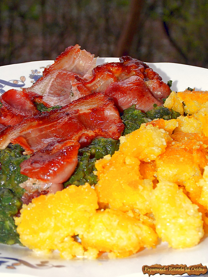 Urzici cu mamaliga rumenita si bacon crocant (6)