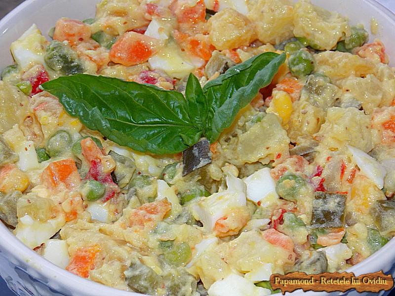 Salata ruseasca. A la russe (4)