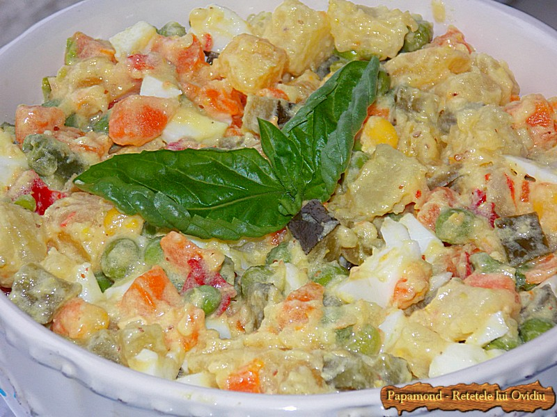 Salata ruseasca. A la russe (6)