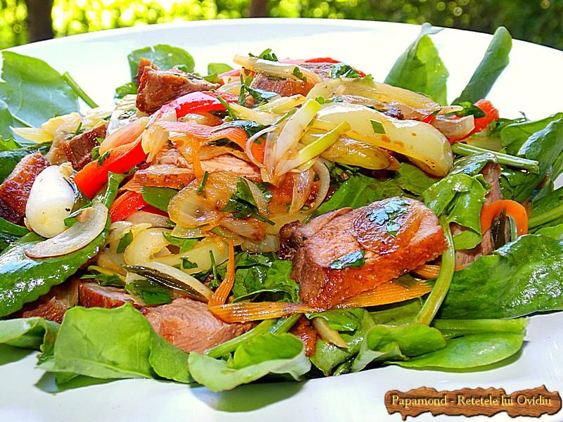Salata Calda cu Legume si Piept de Rata (1)