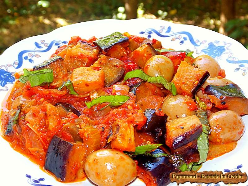 Caponata Siciliana – Tocana de Vinete cu Rosii si Masline