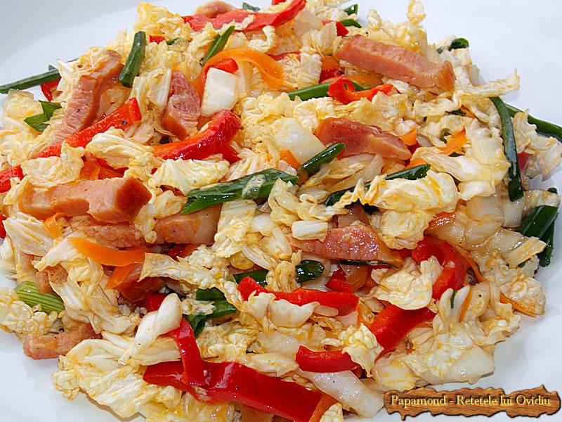 Salata De Varza Chinezeasca Cu Bacon Afumat
