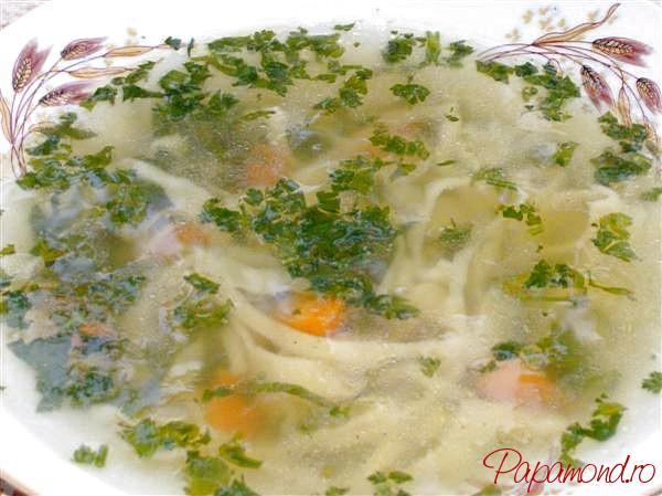 Supa de rata cu taietei de casa