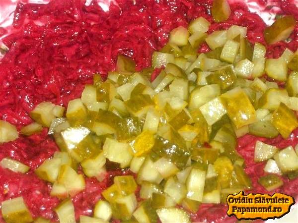Salata de sfecla rosie si castraveciori