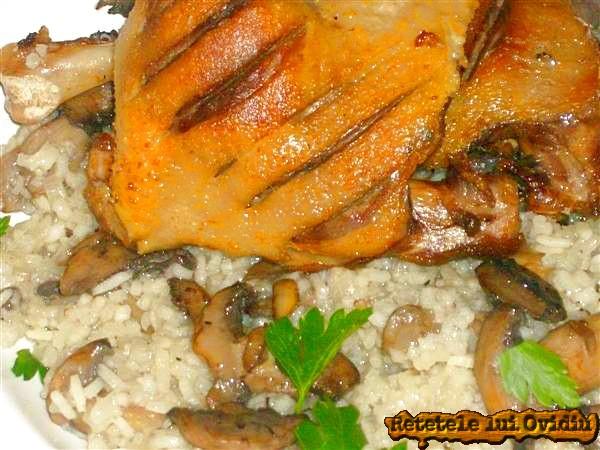 pulpe de rata cu risotto